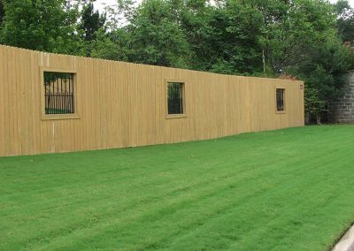 Wood Privacy Fence in Tulsa With Window