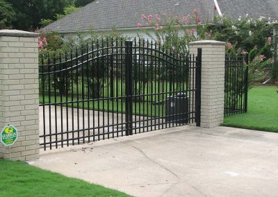 Ornamental Wrought Iron Gate in Tulsa