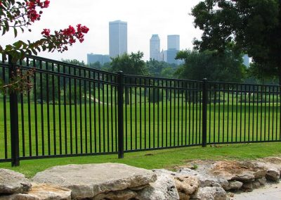 Ornamental Iron Fence Downtown Tulsa