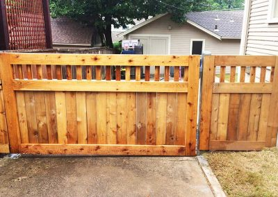 Custom Wood Fence Gate
