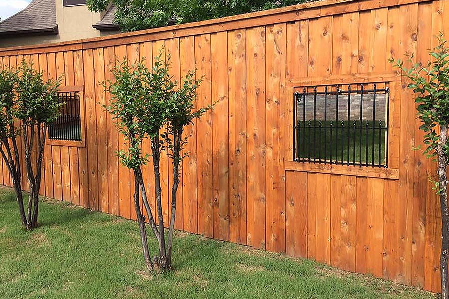 Unique Wood Privacy Fence Metal Gate