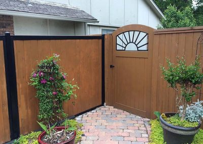 Custom Wood Privacy Fence & Decorative Gate