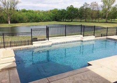 Backyard Pool Iron Fence