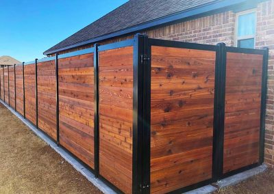Stained Western Red Cedar Horizontal Privacy Fence