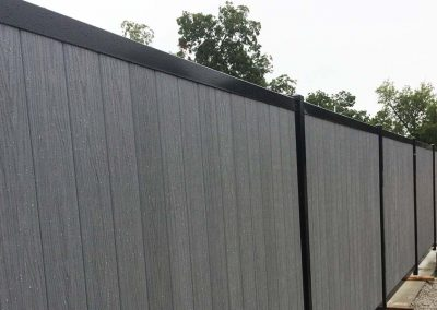 FenceTrac Composite & Metal Commercial Privacy Fence