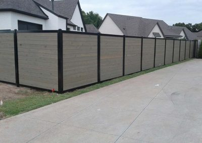 Horizontal Privacy Fence Stained Gray