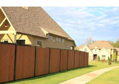FenceTrac Privacy Fence With Stained Cedar